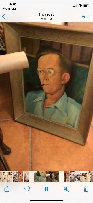 Vintage portrait. 1959's oil on canvas.