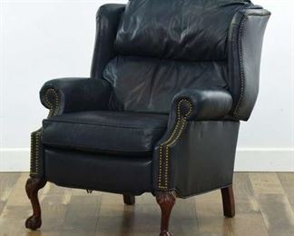 Thomasville Leather Recliner W Nailhead Trim