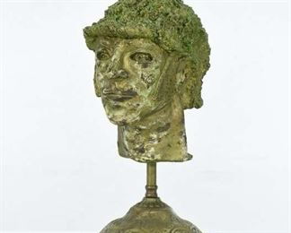 Sculpted Bust On Bronze Victorian Base