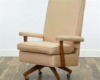 Mid Century Modern Pink High Back Executive Chair