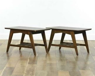Pair Of Mid Century Modern A-Frame End Tables