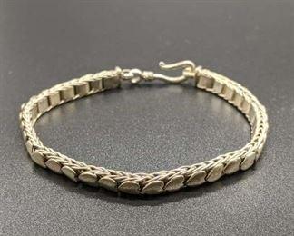Sterling Silver Articulated Bracelet W/ Heart Motif