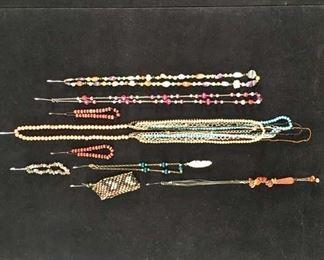 Set Of 9 Mix Lot Costume Jewelry Bohemian & Beads