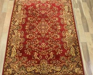 Sears Dynasty Red Vintage 100% Worsted Wool Area Rug