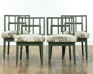 Set Of 4 Mid Century Modern Paul László Dining Chairs