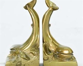 Pm Craftsman Brass Whale Bookends