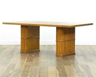 Vintage Tiki Style Bamboo Dining Table