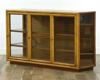 Vintage Danish Modern Style Curio Display Cabinet