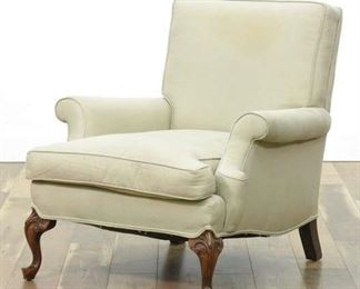 Queen Anne Style Ivory Armchair