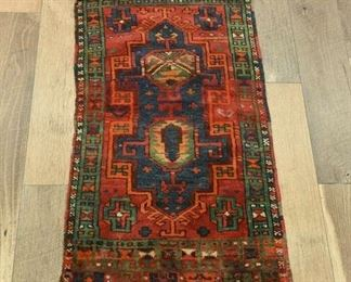 Hand Woven Multicolor Turkish Design Wool Area Rug