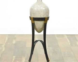 Crackle Like Paint Modern Vase And Stand Decor