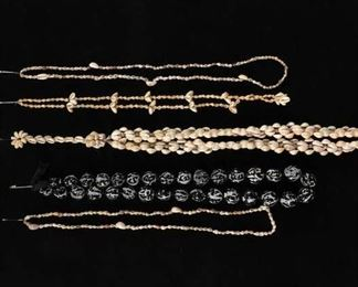 Set Of 5 Mix Lot Coastal Motif Shell Jewelry