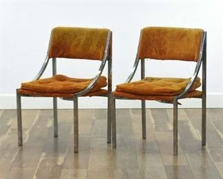 Pair Of Howell Mid Century Modern Metal Frame Chairs