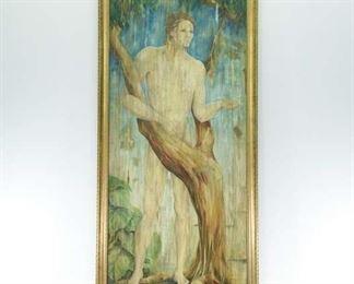 Acrylic/Board Adam In The Garden Of Eden
