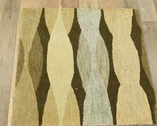 Handmade Earth Tone Retro Pattern Area Rug