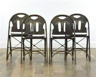 Set Of 4 L. Rastetter Solid Kumfort Folding Chairs