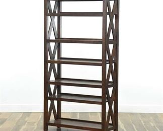Contemporary Cross Frame Bookcase Etagere