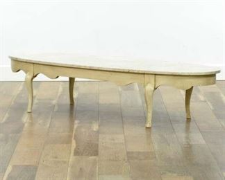 Vintage French Provincial Italian Marble Coffee Table