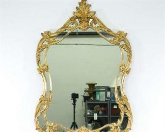 Vintage Gilt French Regency Openwork Frame Mirror