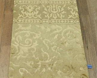 2'X3' Ivory Tibetan Weave Area Rug