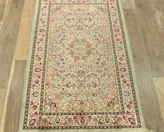Vintage Pink & Ivory Persian Design Area Rug