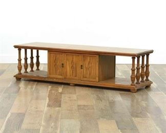Mid Century American Traditional Coffee Table W Storage