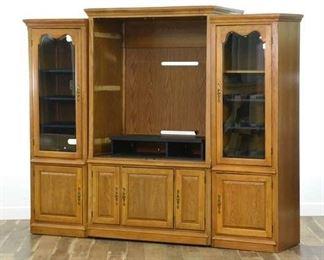 Contemporary American Traditional Media Center Cabinet