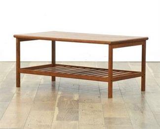 Danish Modern Teak Two Tier Coffee Table