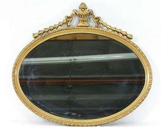 Gilt Empire Frame Oval Mirror
