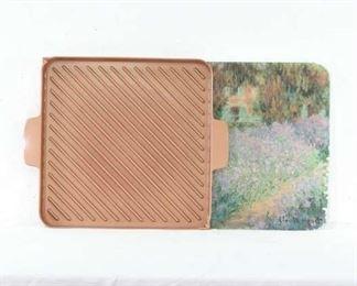 Mix Lot Monet Landscape Glass Cutting Board & Grill