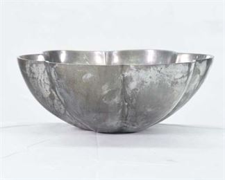 Vintage Pewter Flower Bowl