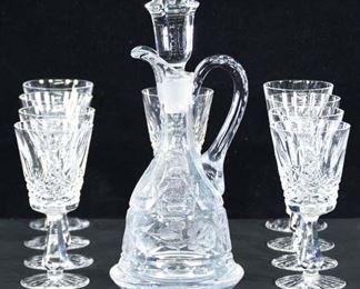 Set Of 9 Decanter & Wine Glasses