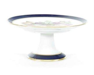Antique Porcelain Pedestal Plate