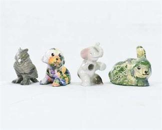 Set Of 4 Mix Lot Animal Figures