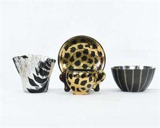 Set Of 4 Modernist Designer Dishware
