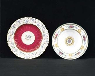 Pair Of Mix Lot Porcelain Plates Wedgwood