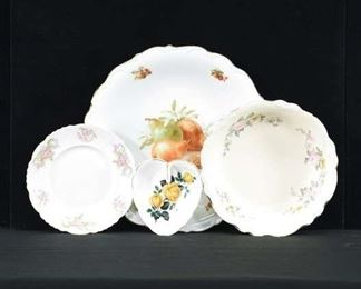 Set Of 4 Vintage Bone China Collectible Dishware