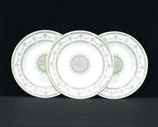 Set Of 3 Staffordshire Apollo Fine China Plates