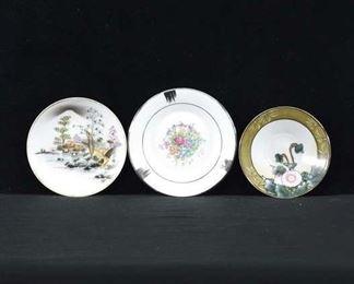 Set Of 3 Mix Lot Vintage Plates, Japan