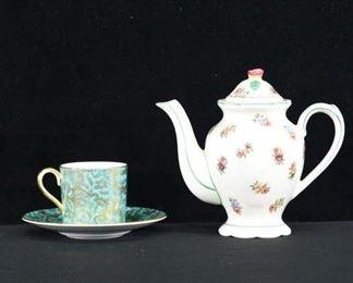 Set Of 3 Mix Lot Demitasse Set & Teapot