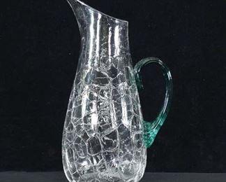 Vintage Textured Glass Pitcher