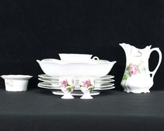 Set Of 11 Mix Lot Porcelain Floral Pattern Dishware