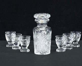 Set Of 7 Decanter & Glasses