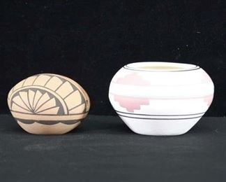 Pair Of Small Native American Pottery