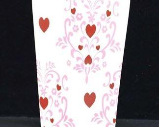 Heart Scroll Motif Vase