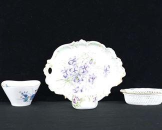 Set Of 4 Mix Lot Porcelain Dishware