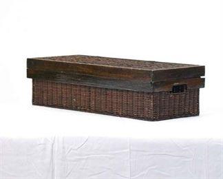 Coastal Woven Rattan Storage Box
