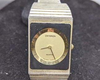 Criterion Stainless Steel Retro Modern Watch