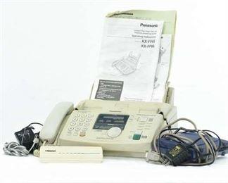 Panasonic Fax Machine, Modern & External Phones