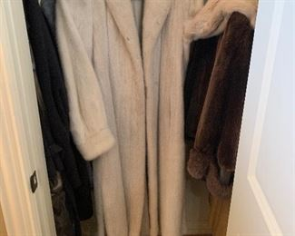 """Szor-Diener Fur with Pierre balmain lining. """"Mink will always be the fashion piece – the Cadillac of furs. It is the most durable, the most flexible, and since the hairs are flat, is appropriate for women of all sizes."""""""